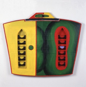 1989, Green Manelishi, 80 x 100 x 5 cm