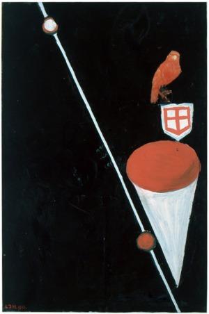 1990, Lokvogel,  32 x 48 cm