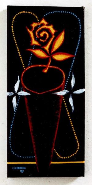 1991, La Rose, 40 x 18 cm