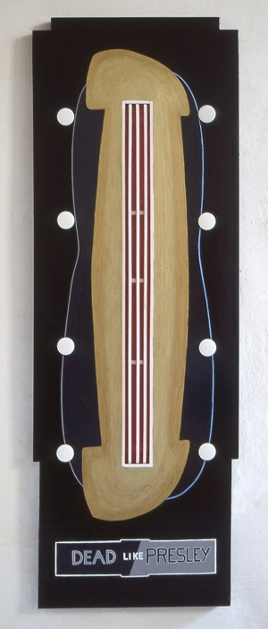 1993, Dead like Presley, 45 x 153 x 4 cm