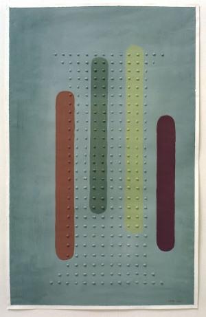 2001, Four Stripes, 94 x 59 cm