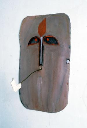 1987, Zelfportret met Pijp, 52 x 30 x 29 cm