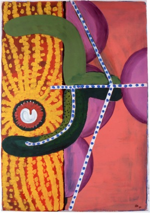 1990, Behind the Door, 70 x 50 cm