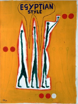 1990, Egyptian Style, 63 x 46 cm