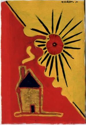 1990, Yellow House, 29 x 21 cm