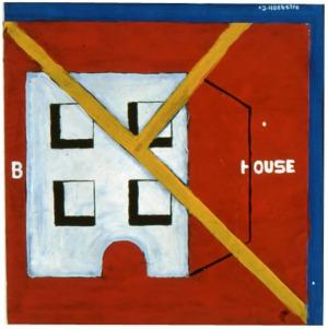 1990, Block House, 21 x 21 cm