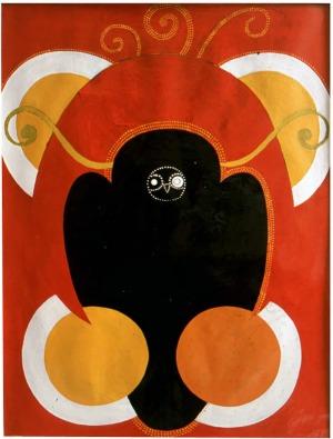 1991, Night Owl, 63 x 46 cm