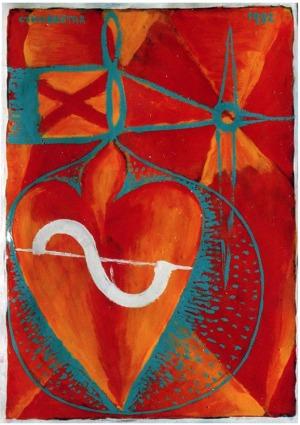 1992, A change of Heart,  30 x 21 cm