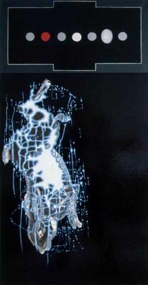 1992, The Hunt, 135 x 70 cm